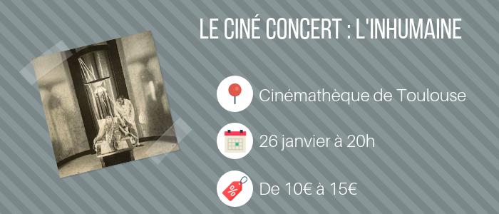 cinéma concert - l'inhumaine
